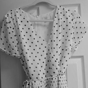 Cute, flows, summer dress, pleated wrap dress